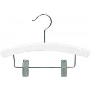 "10"" White Baby/Infant Combination Hanger"