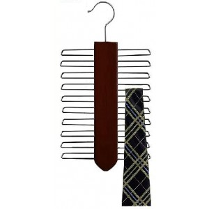 Vertical Tie Hanger / Walnut & Chrome