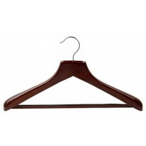 Walnut & Chrome Deluxe Suit Hanger