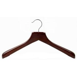 Walnut & Chrome Deluxe Coat Hanger