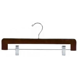 Walnut & Chrome Deluxe Pant/Skirt Hanger