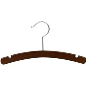 "12"" Childrens Walnut & Chrome Top Hanger"