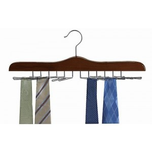 Tie Hanger / Walnut & Chrome