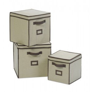 Linen Fabric Storage Boxes