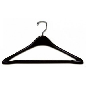 "Black 19"" Suit Hanger w/ Bar"