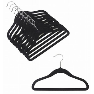 "12"" Childrens Black Slim-Line Hanger"