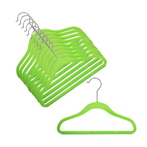 "12"" Childrens Lime Slim-Line Hanger"