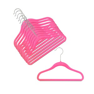 "12"" Childrens Hot Pink Slim-Line Hanger"